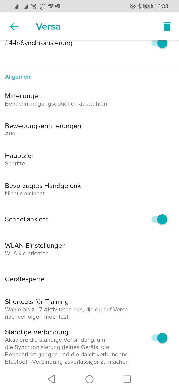 Versa und Huawei P20 / P20 Pro – Seite 20   Fitbit Community