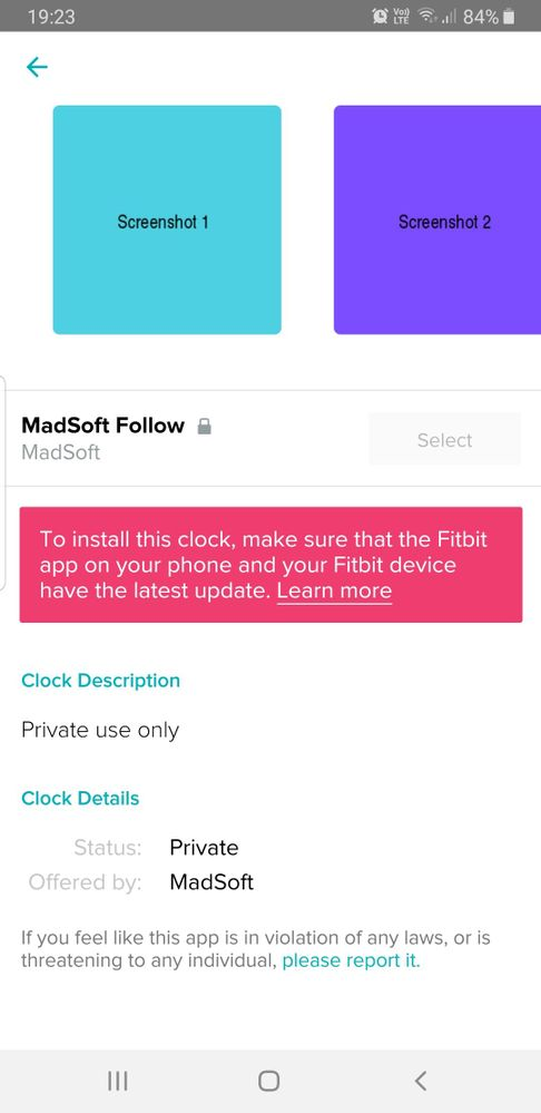 Solved Unable To Install Clock Face Fitbit Community