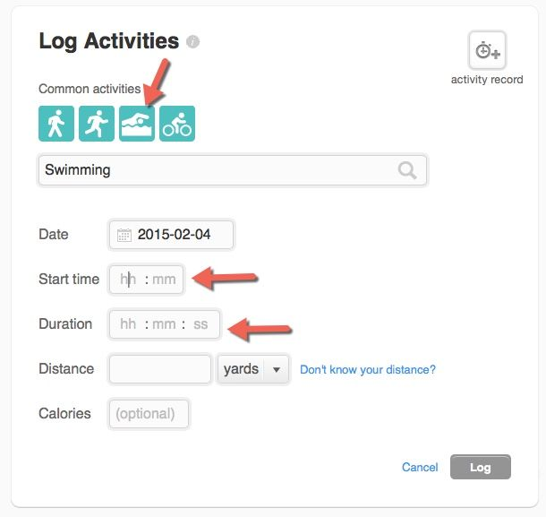 Solved How Do I Log Swimming As An Activity Fitbit Community