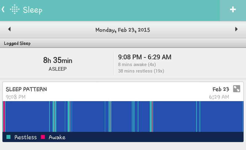 how to look at sleep on fitbit
