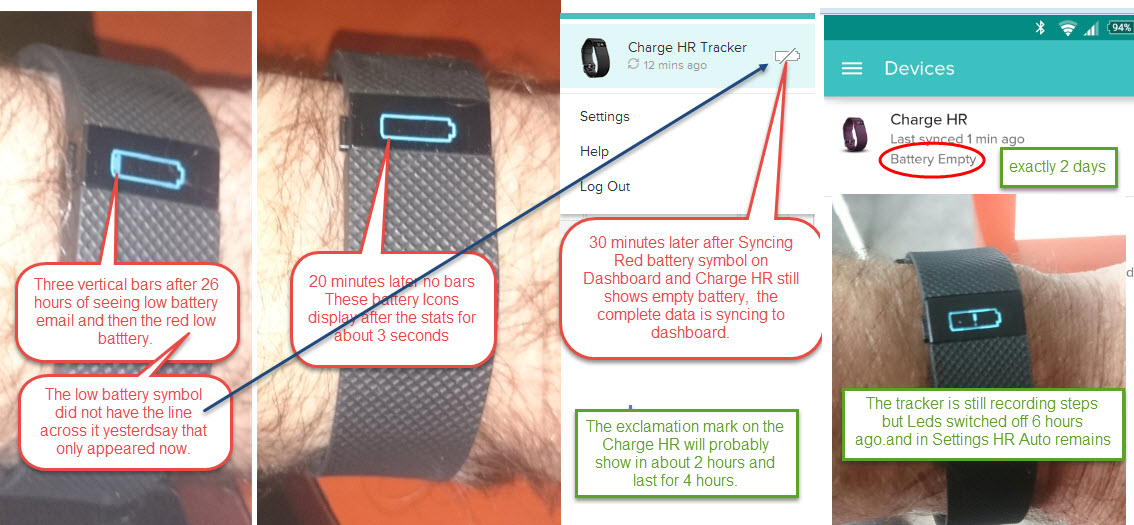 Monitoring battery life remianing fitbit community batgtery charge hr 3g sciox Image collections