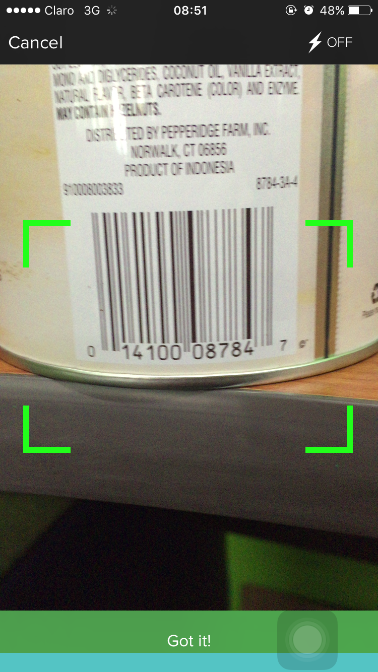Solved unable to add new barcodes fitbit community for Barcode food
