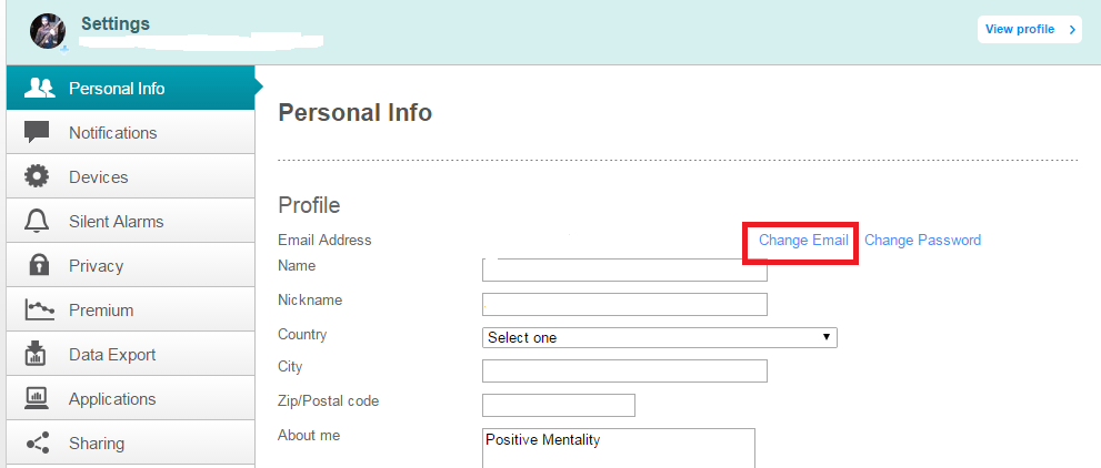 Change my Fitbit account's associated email addres