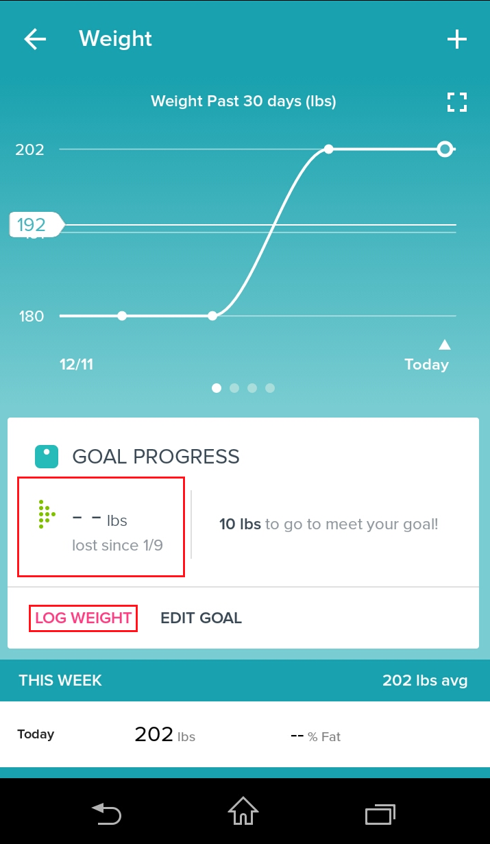 Solved: Weight loss goal progress - Fitbit Community