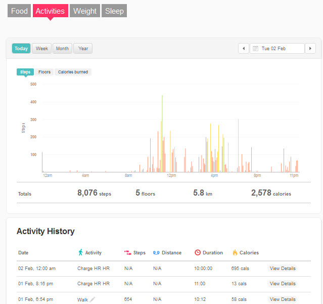 how to change calories to kilojoules on fitbit
