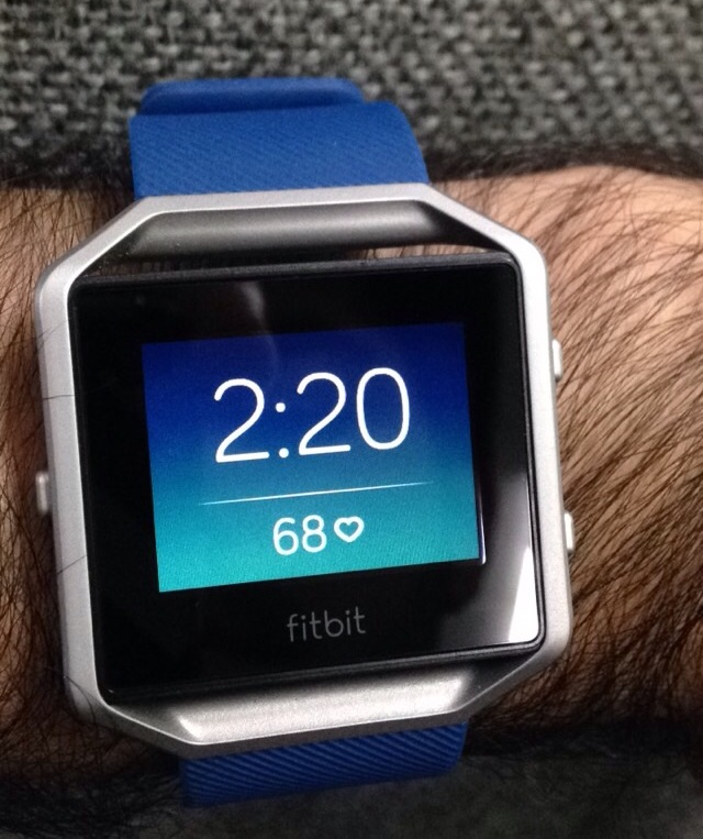 How to reset the time on a fitbit blaze