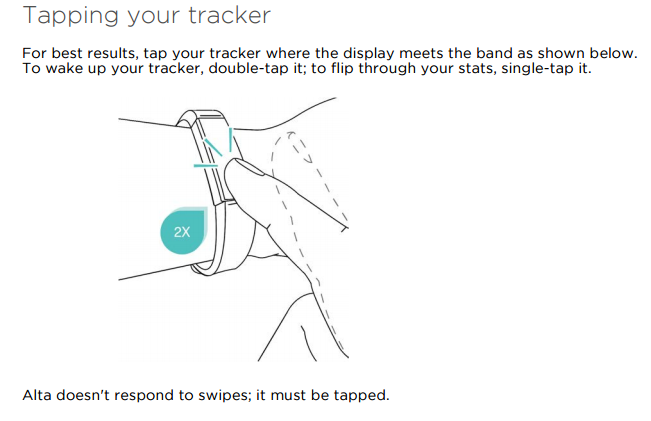 how to turn on a fitbit alta