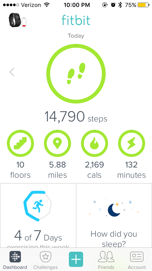 how to track walk on fitbit app