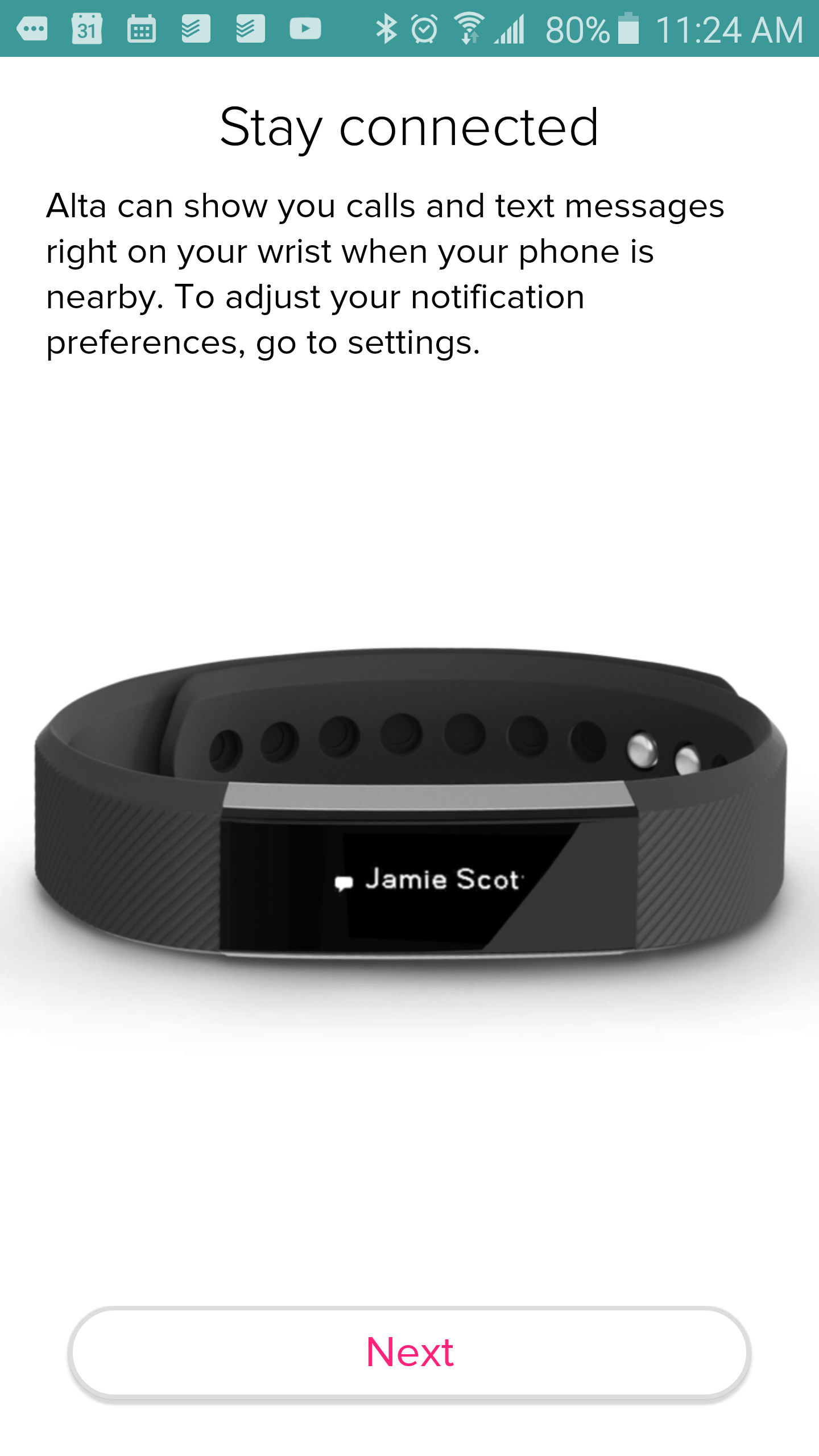 how to get notifications on fitbit alta