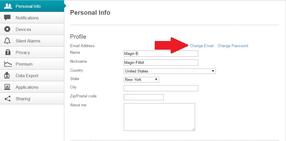how to change my email id