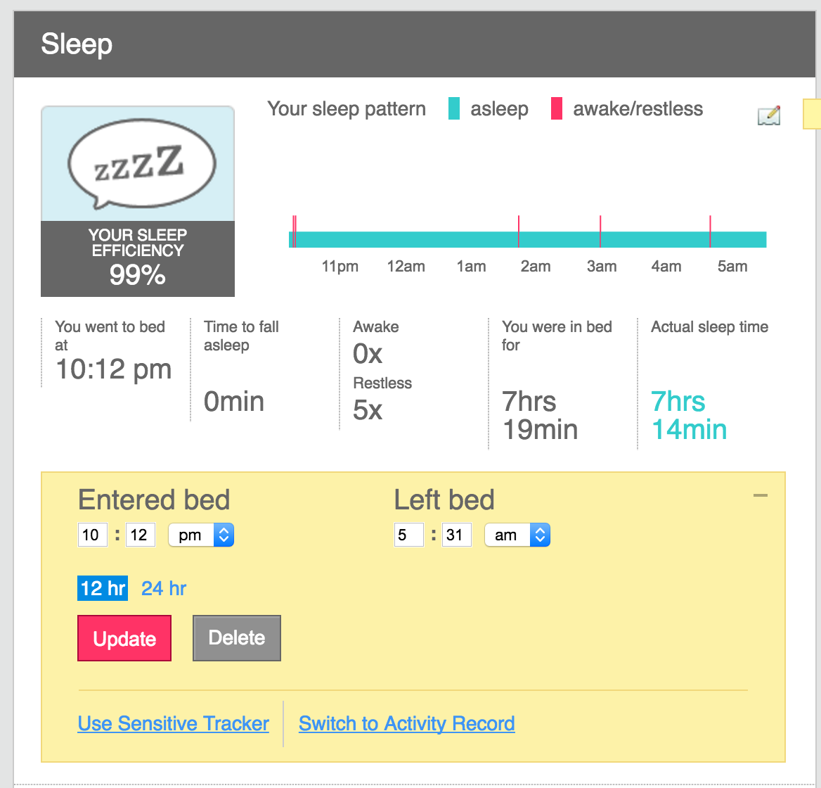 Solved: Not tracking sleep - Fitbit Community