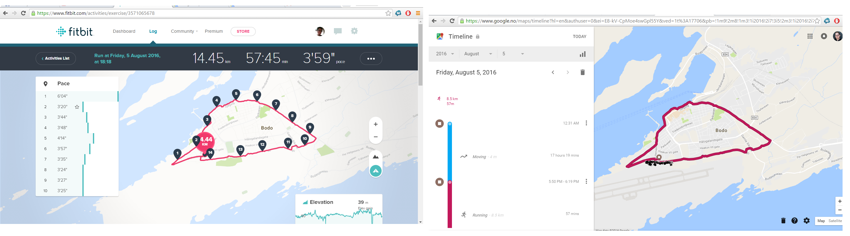 fitbit map of run how to