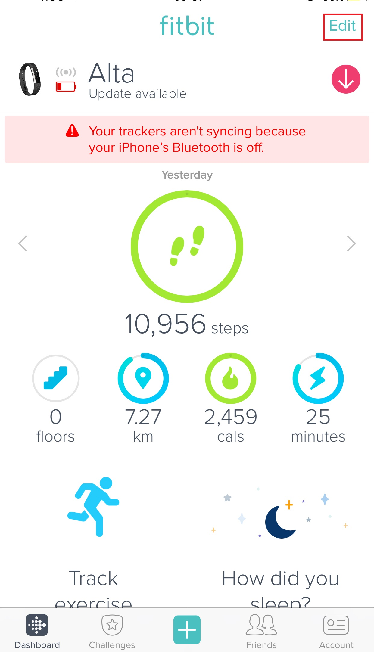 Solved Does Alta Track Floors Fitbit Community