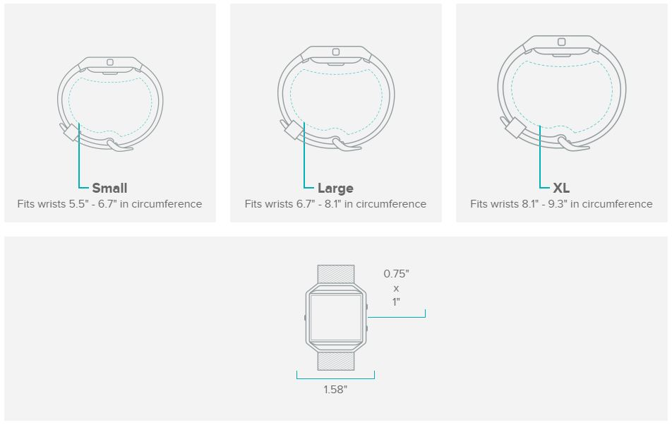 Different Sized Bands On Blaze Fitbit Community