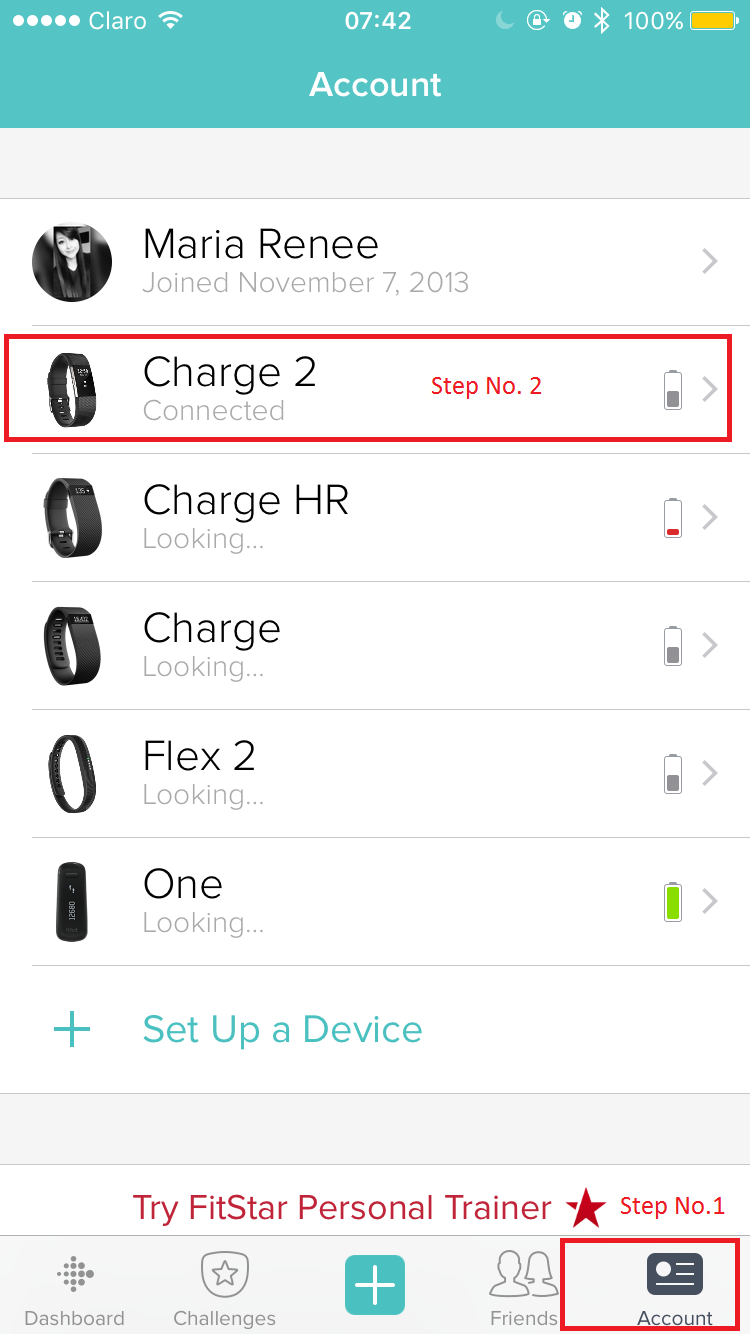 Factory reset Charge 2 - Fitbit Community
