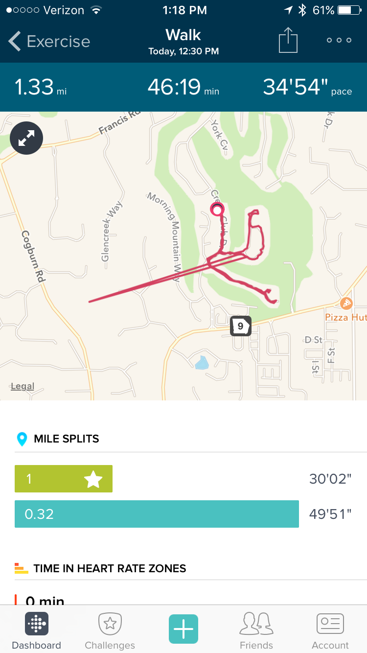 Solved: Connected GPS Pace and Distance is Inaccurate ... on honey bee map, georgia map, strange map,