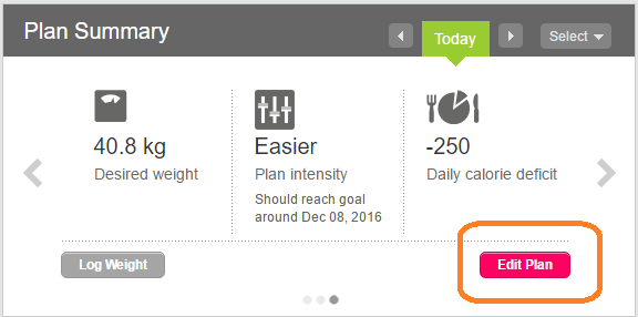 solved i accidentally reset my weight loss goal fitbit community