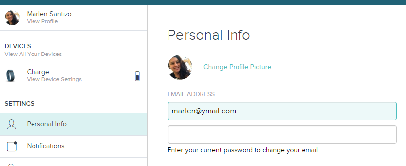 How to change incorrect email address - Fitbit Community