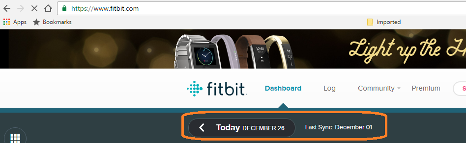 how can i see the history of my activity for past fitbit community