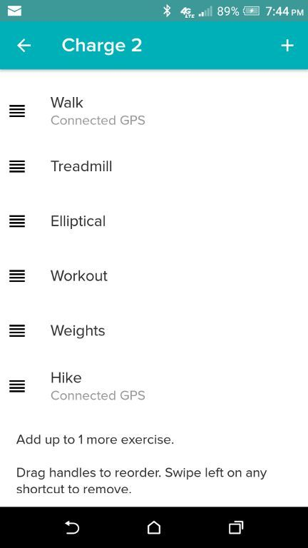 If it doesn't show below the exercise type, tap on the Exercise to open it  and enable Connected GPS. Then sync the tracker again.
