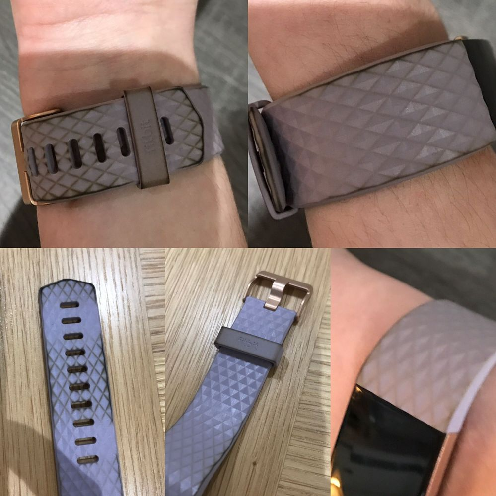 Charge 2 Lavender Rose Gold Strap 4 days old - Fitbit Community