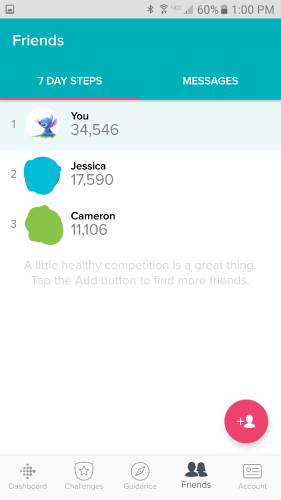 how to cancel friend request on fitbit