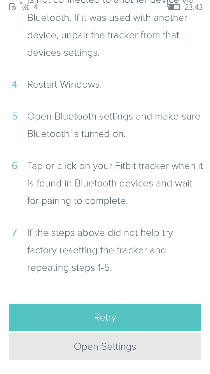 Charge 2 will not pair in setup app - Fitbit Community