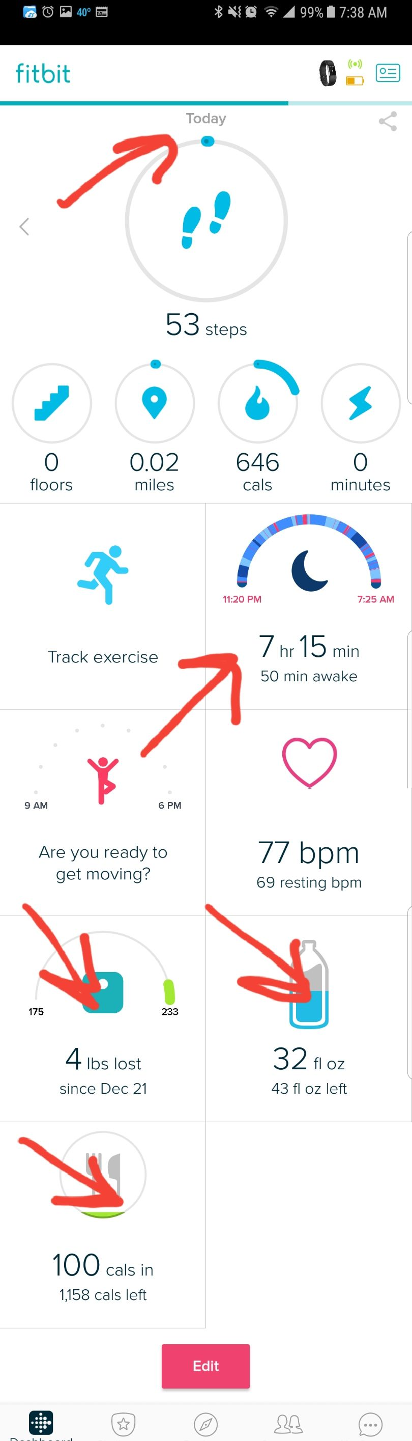 how to connect new fitbit to app