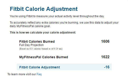 Solved: My Fitness Pal calorie adjustment - Fitbit Community