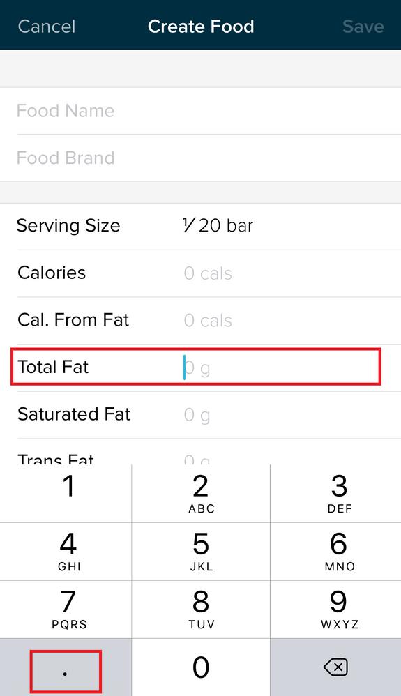 No Decimal Point When Logging Food Details Fitbit Community