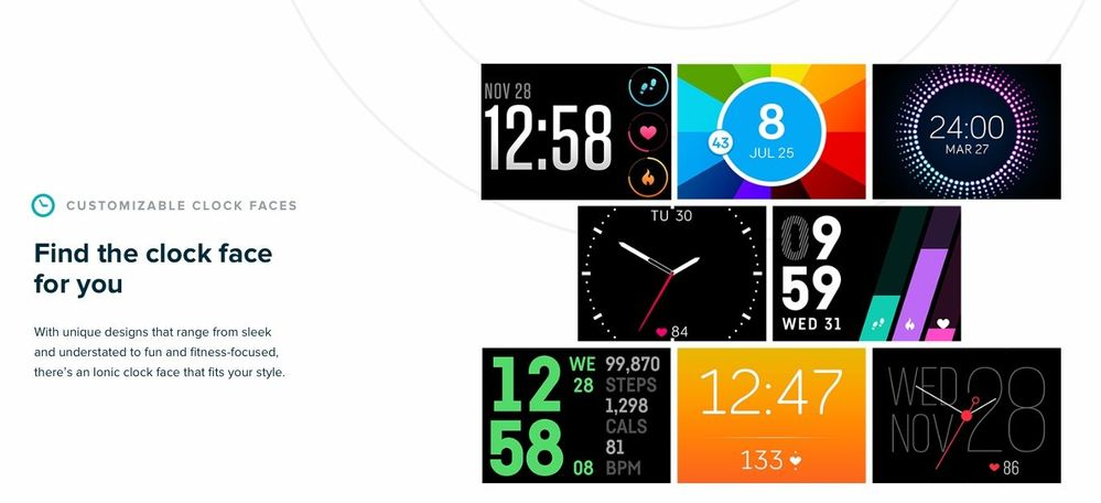 Solved Are There Multiple Clock Faces Fitbit Community
