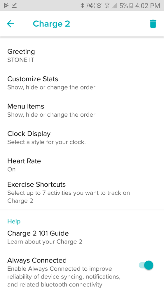 how to know when your fitbit hr is fully charged