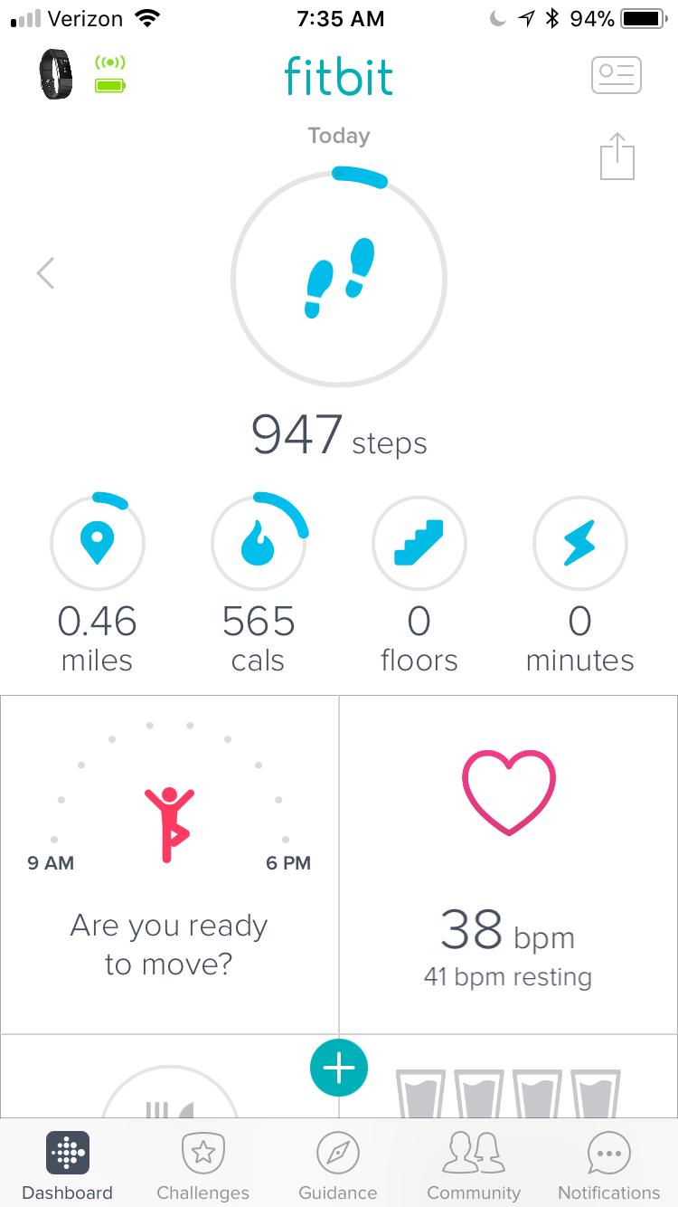 Resting heart rate 43 - 46 bpm - Fitbit Community