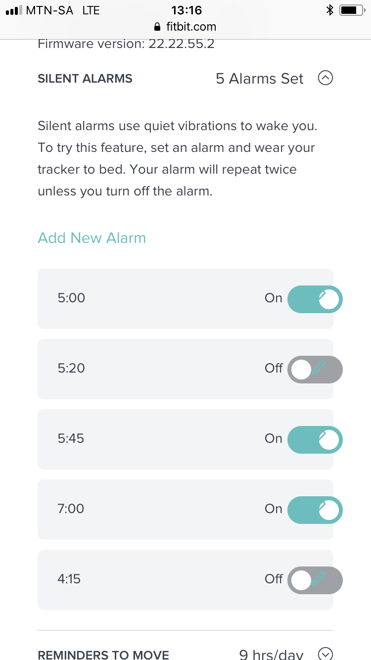 Unable to delete alarms  - Fitbit Community
