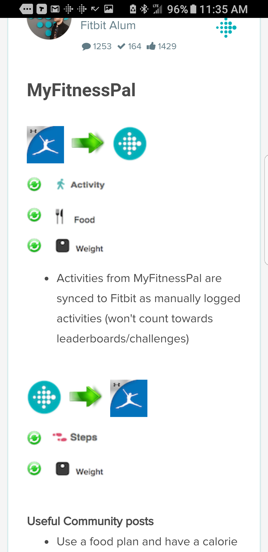 Myfitnesspal Not Synching With Fitbit - All Photos Fitness Tmimages Org