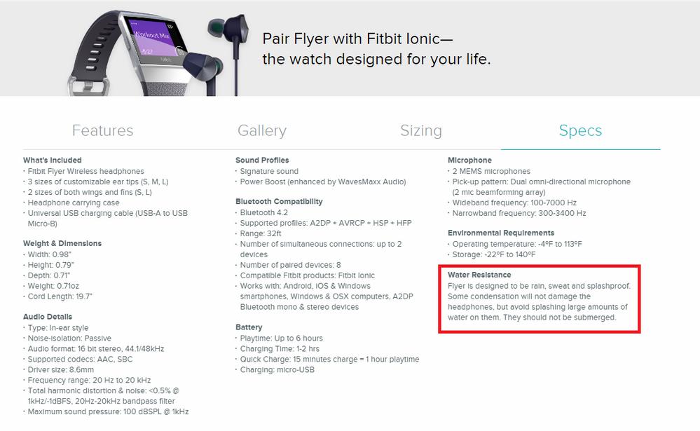 Solved: Is Fitbit Flyer waterproof? - Fitbit Community