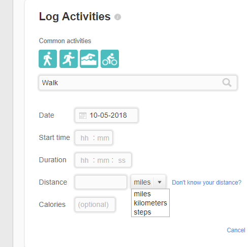 add steps manually - fitbit community