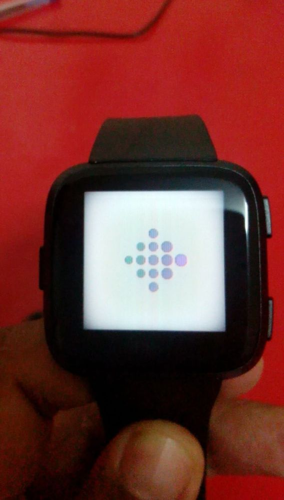Screen vertical lines and display dims - Fitbit Community