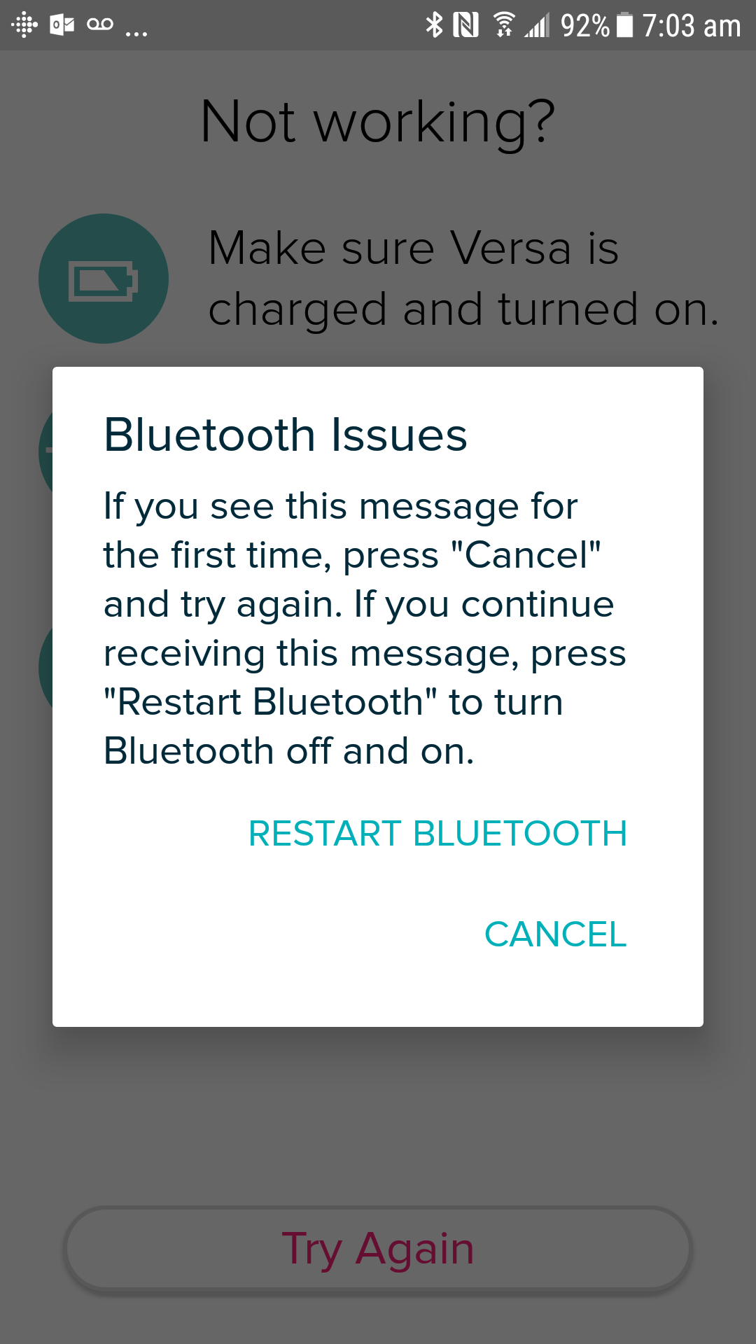 Solved: versa bluetooth sync issues - Fitbit Community