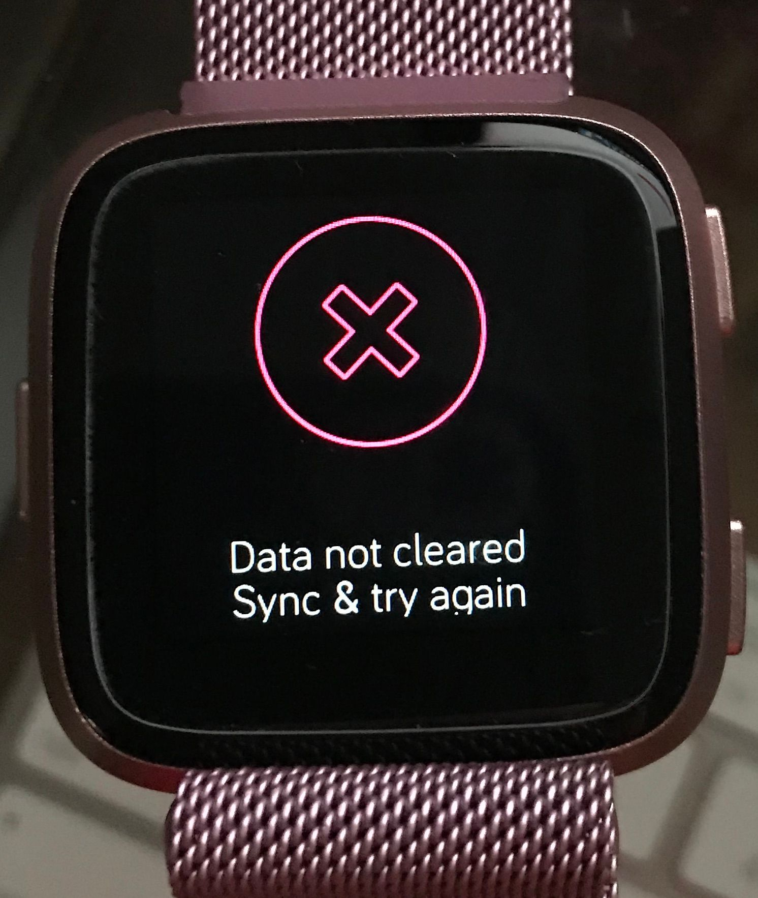 Data not cleared Sync and try again - Fitbit Community