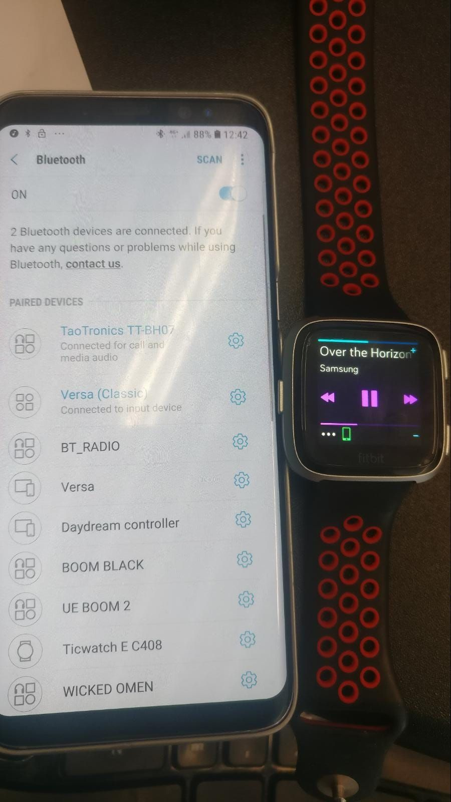 Solved: Can I control music from my phone with Versa? - Page