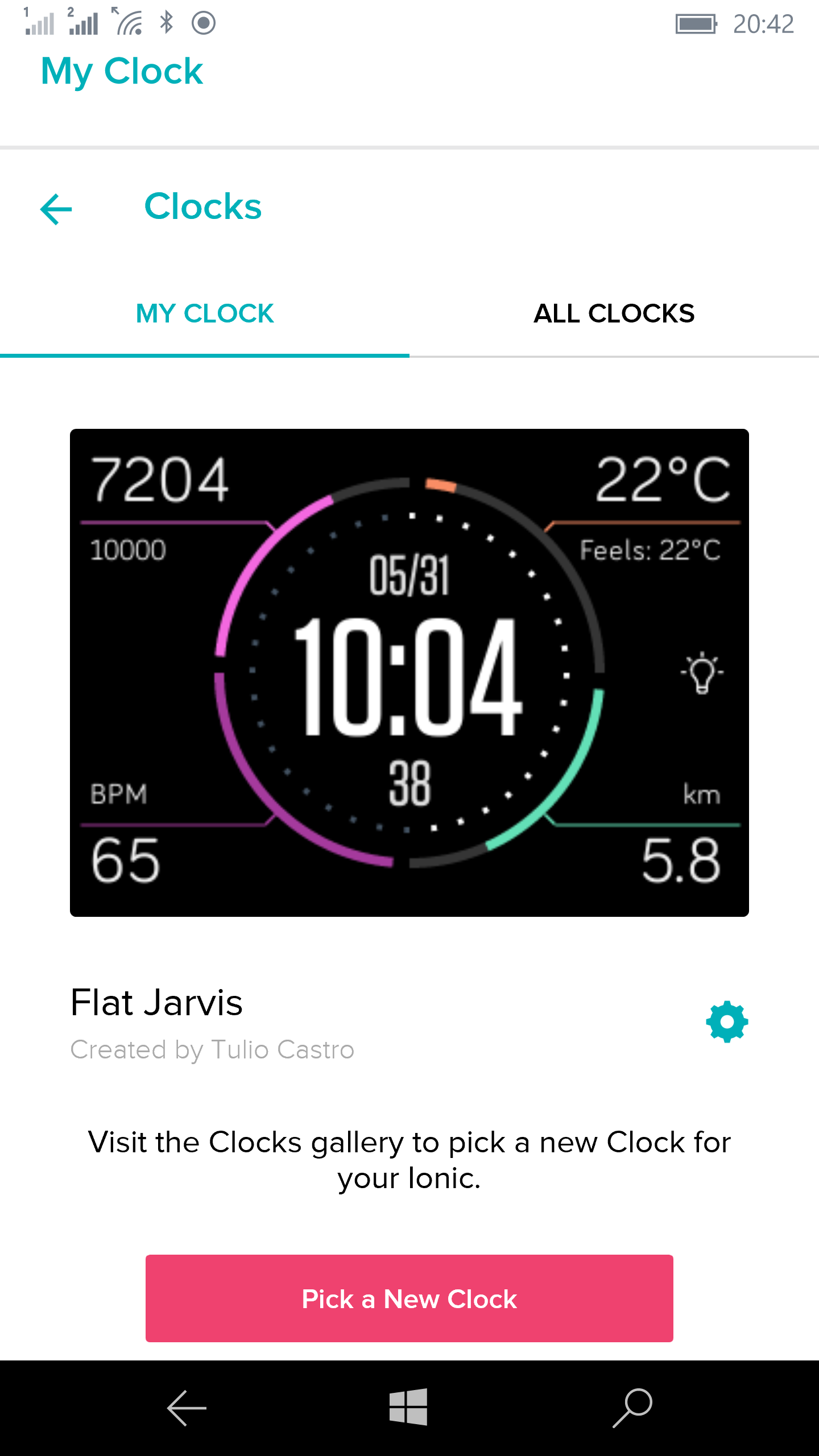 Flat Jarvis settings - Fitbit Community