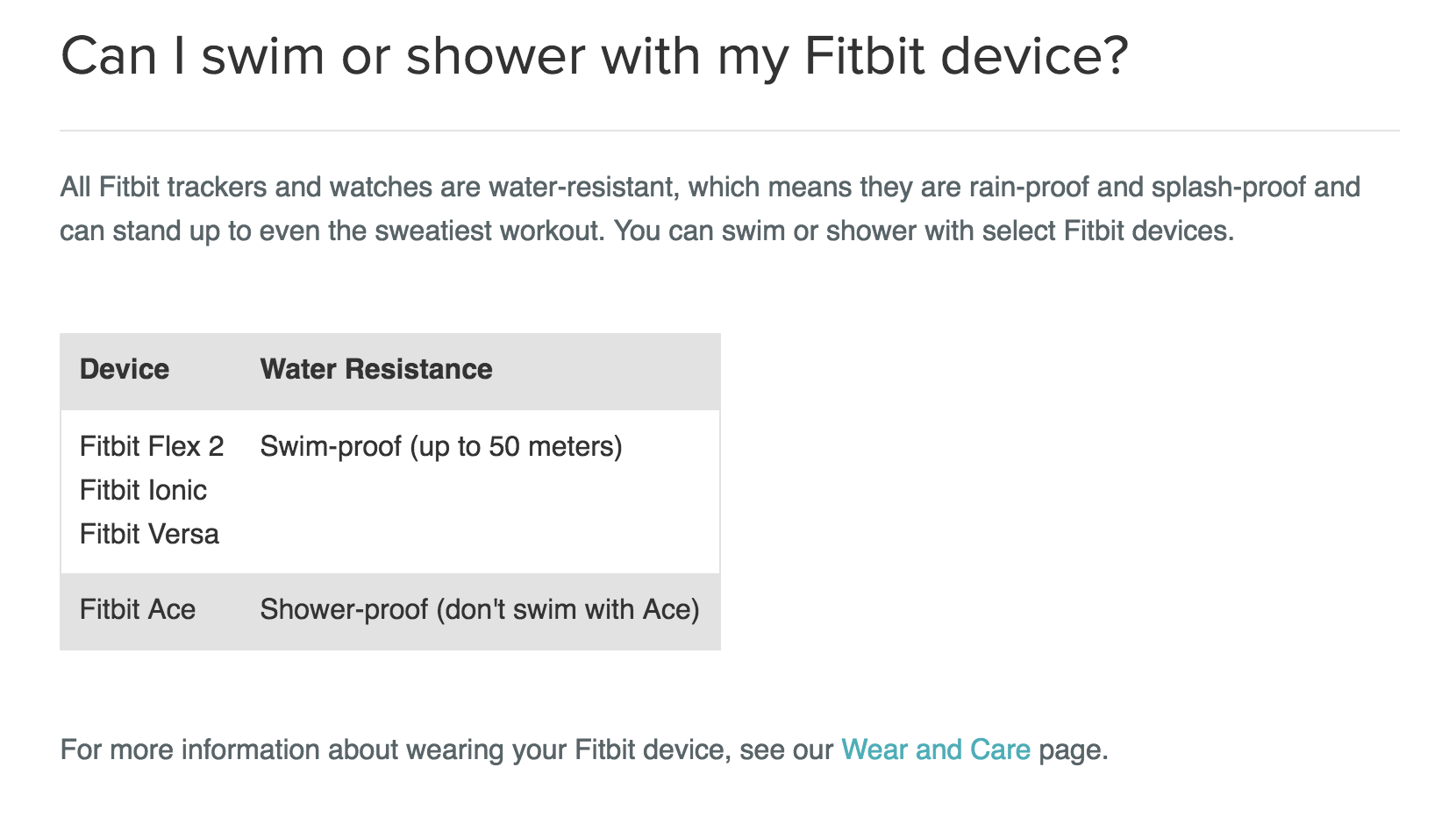 What about the Versa for Swimming? - Fitbit Community