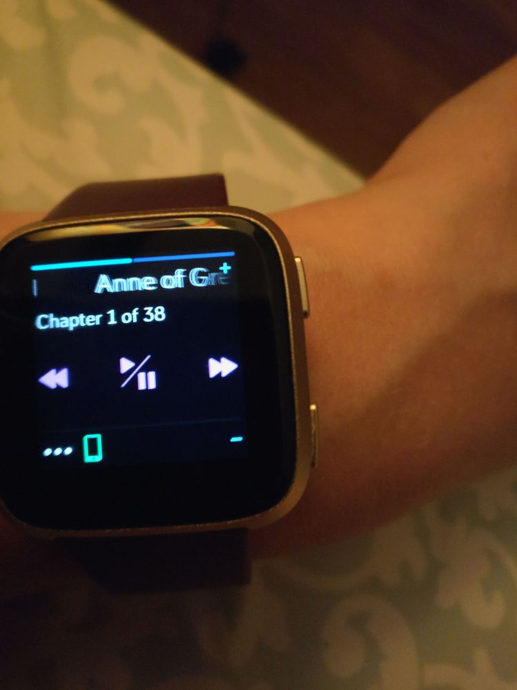 Pausing a podcast or audiobook (mp3) on the Versa - Fitbit
