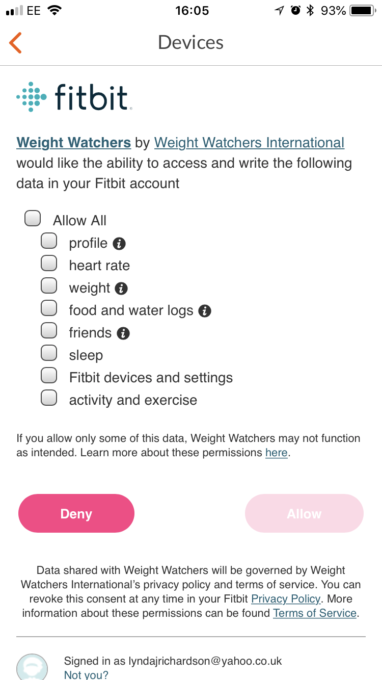 Weight Watchers And Syncing All You Need To Know Fitbit Community