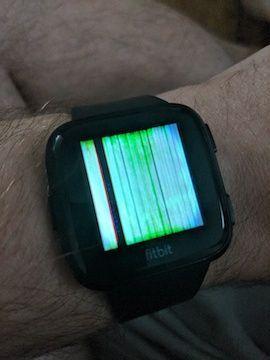 Solved: Versa Screen Scrambled, Not Working - Fitbit Community