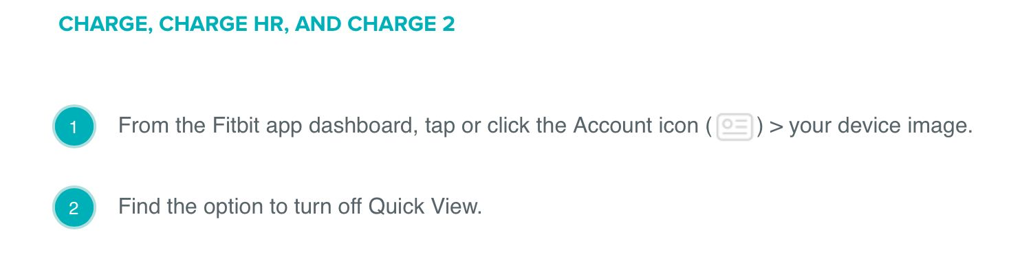 Solved: Can I Turn Off Quick View on my Charge 3? - Fitbit