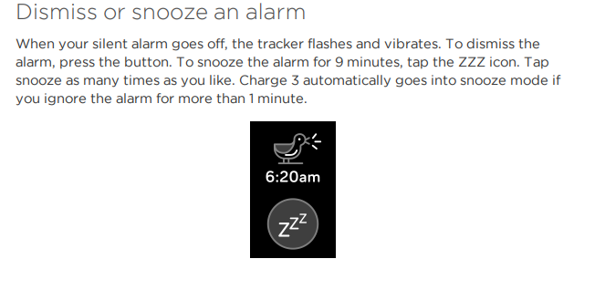 Charge 3 alarm silencing - Fitbit Community