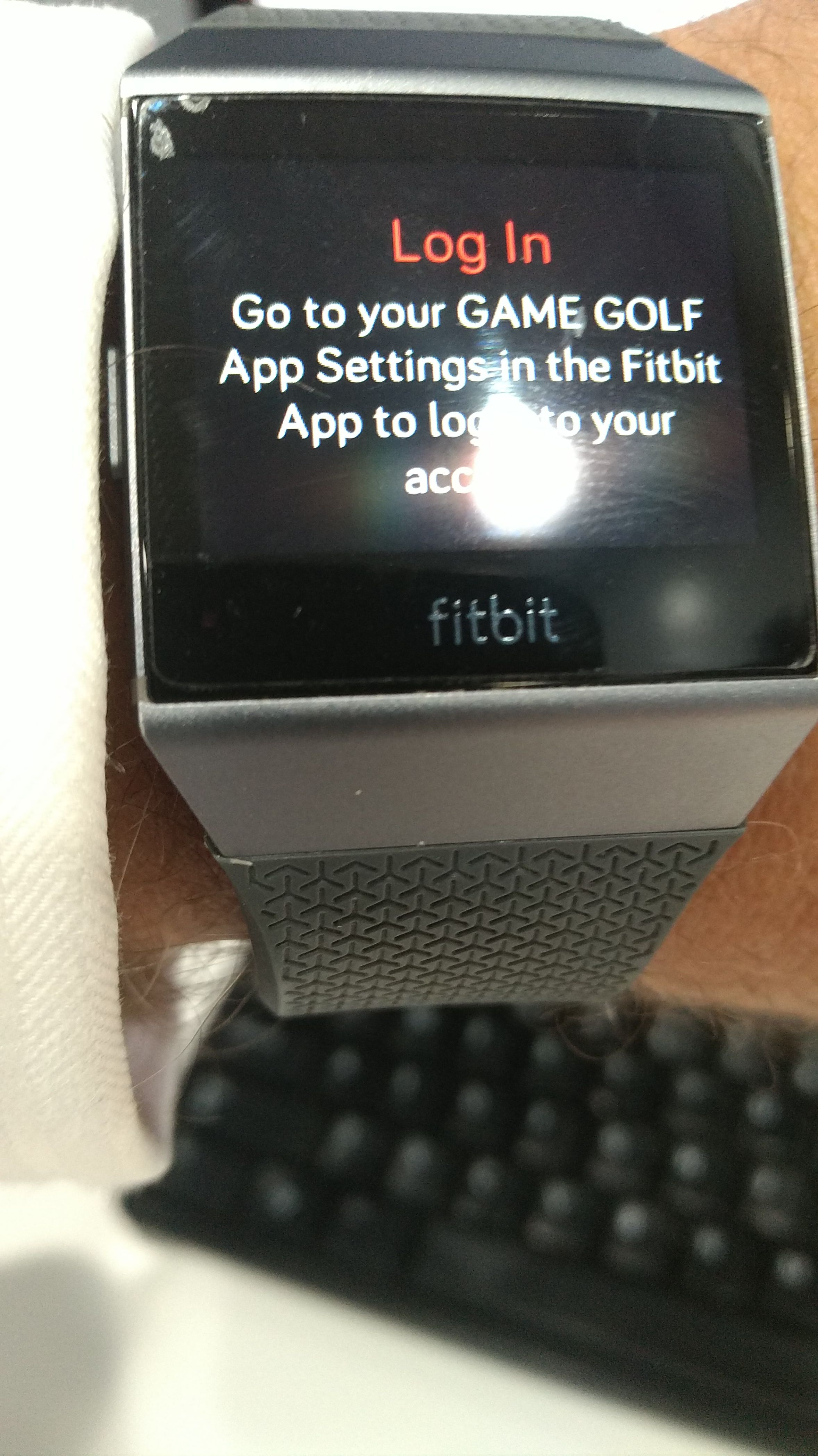 Game Golf cannot login or sync courses - Fitbit Community