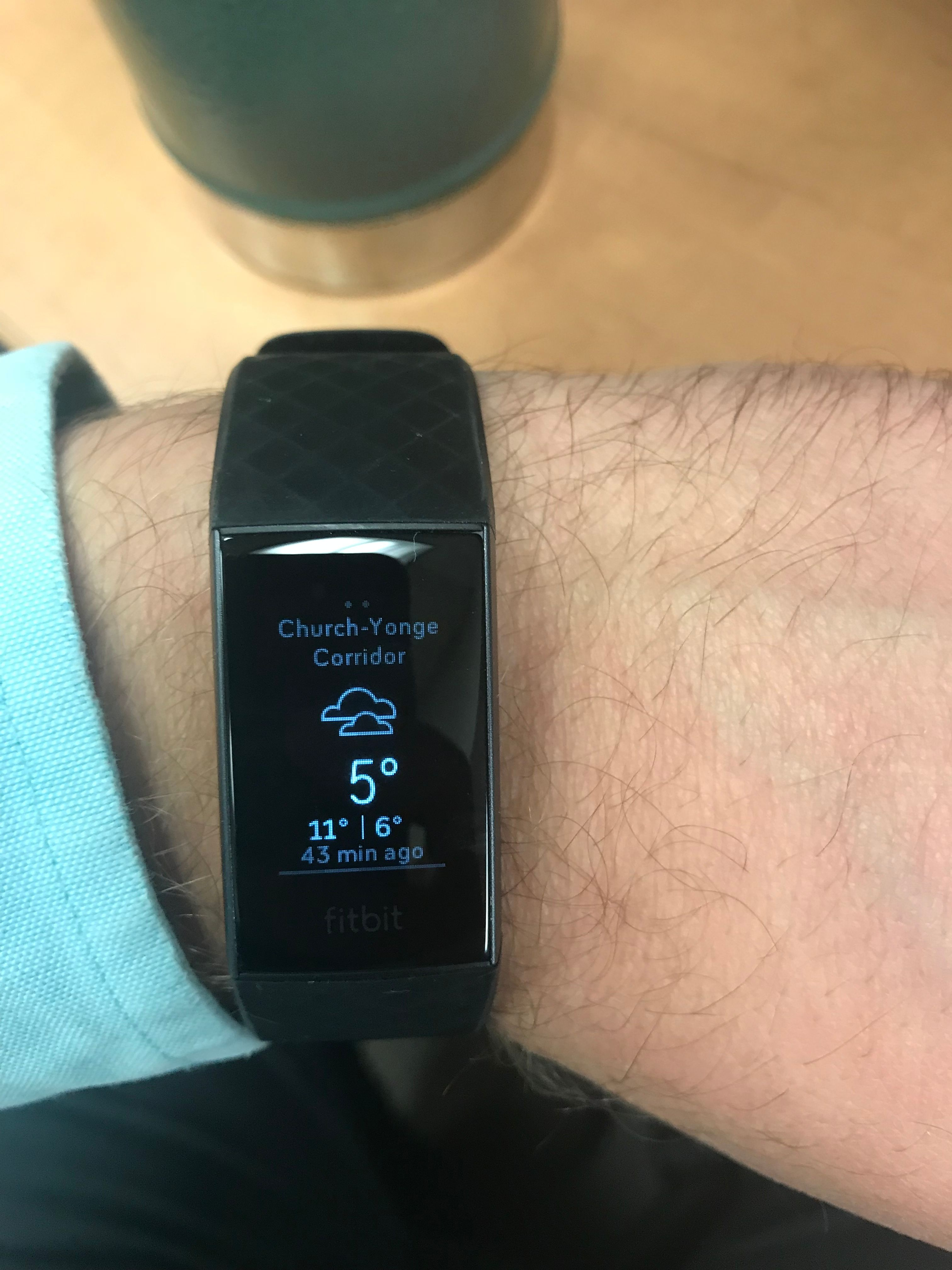 Solved: Charge 3 Weather not showing on device - Fitbit Community